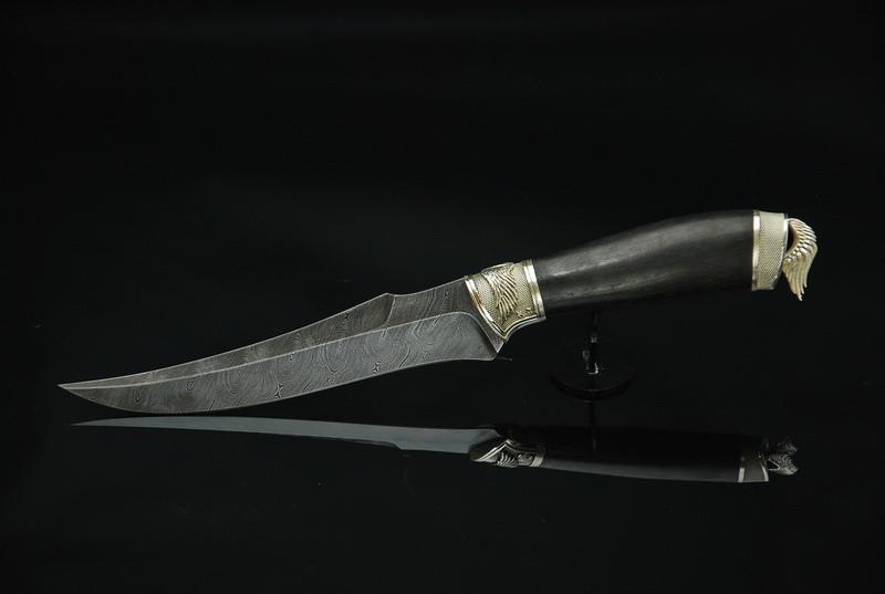 """Нож авторский ручной работы """"Angel-5"""", дамасск"""