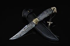 """Охотничий нож ручной работы """"Dark Angel-6"""", мозаичный дамасск (наличие уточняйте), фото 3"""