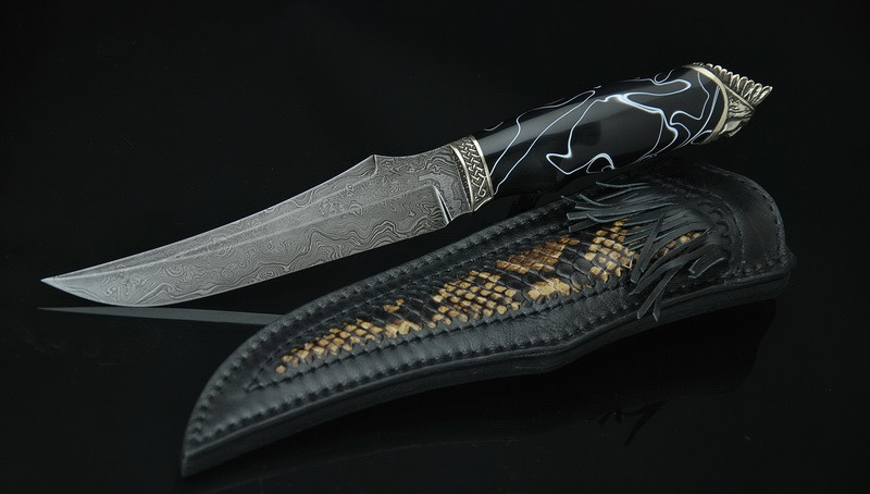 """Охотничий нож ручной работы """"Шаман4"""", дамасск (наличие уточняйте)"""