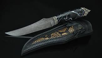 """Охотничий нож ручной работы """"Шаман4"""", дамасск (наличие уточняйте), фото 2"""