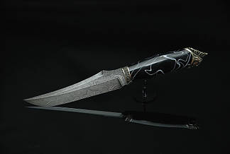 """Охотничий нож ручной работы """"Шаман4"""", дамасск (наличие уточняйте), фото 3"""