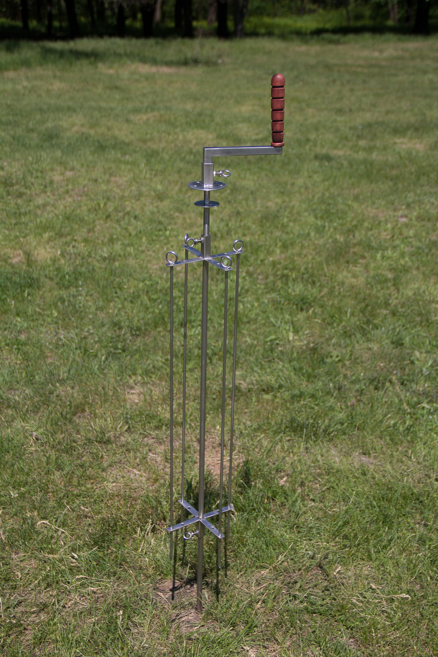 Вертел механический для мангала, длина 1метр