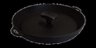 Чугунная сковородка-гриль с прессом, d 340мм, фото 2