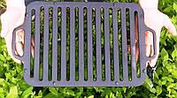 Чавунна решітка-гриль для мангала, 360х260мм (заводське виробництво)