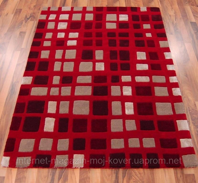 Килим з червоним кольором килими