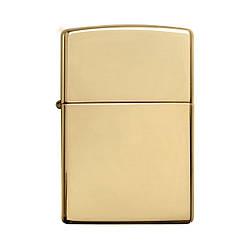 Зажигалка ZIPPO Solid Brass Wo/Sb Gold (254B)