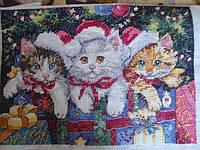 Набор для вышивания крестом Classic Design Новогодние котята 4341