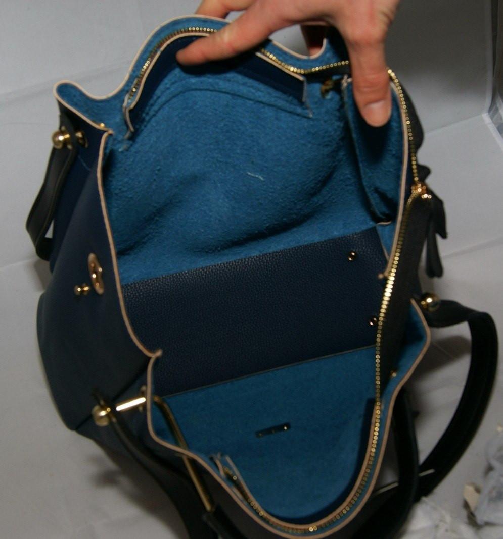 5092dcd9572f ... Синяя женская сумка-шопер B.Elit с отстёгивающимся кошельком, ...
