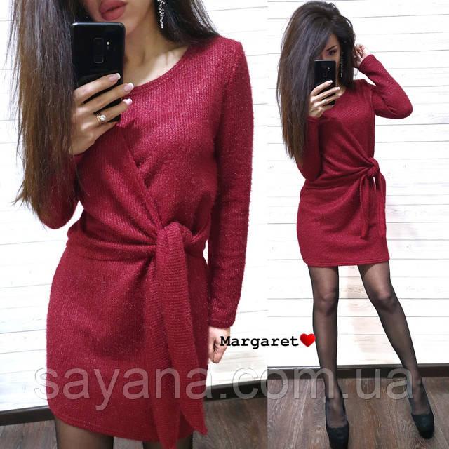 вязаное платье мини