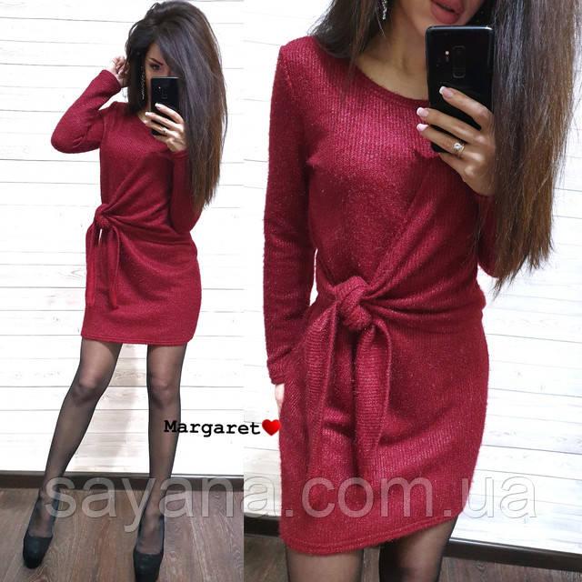 вязаное платье мини оптом