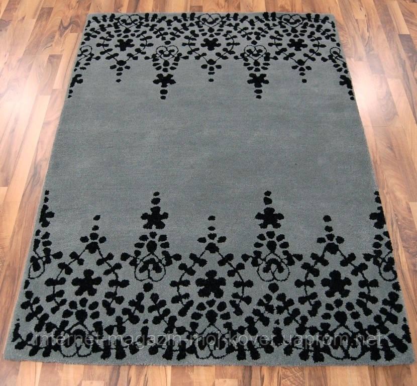 Темно серый ковер, ковры сотканные вручную, ковер кружево