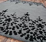 Темно серый ковер, ковры сотканные вручную, ковер кружево, фото 2