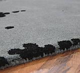 Темно серый ковер, ковры сотканные вручную, ковер кружево, фото 3