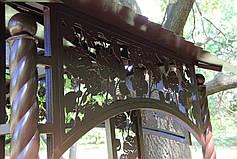 """Садовые качели """"Цветочные"""" (цвет шоколад), материал основы сидения - дуб (под заказ), фото 3"""