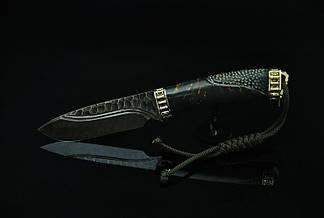 """Нож дамаск """"Каменный3"""", авторский нож из дамасской стали, фото 2"""