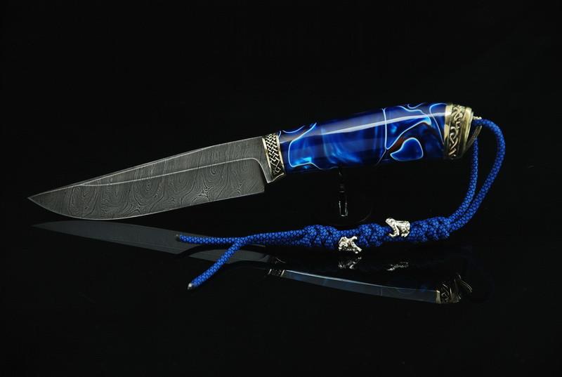 """Нож для охоты из дамасска """"Стихия"""""""