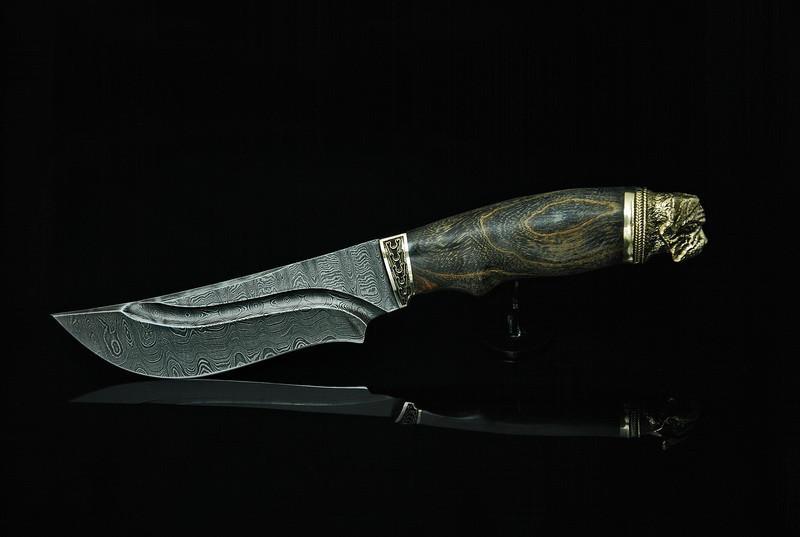 """Авторский нож ручной работы """"Mastiff-1"""", дамасск"""