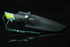 """Авторский коллекционный нож """"Cannabis"""", мозаичный дамасск (наличие уточняйте), фото 3"""