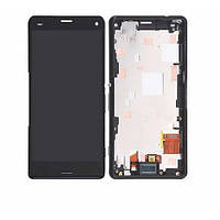 Дисплей для Sony D5803 Xperia Z3 Compact/D5833 с тачскрином и рамкой черный Оригинал (проверен)