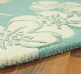 Тканные ковры ручной работы Индия, ковер цветы на голубом фоне, фото 2