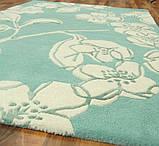 Тканные ковры ручной работы Индия, ковер цветы на голубом фоне, фото 3