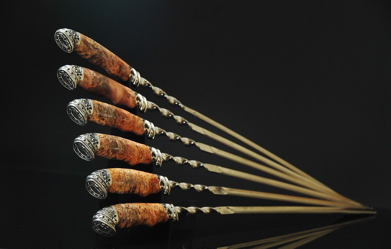 """Набор шампуров с мангалом """"Козырный"""" (3мм, 69см) (наличие уточняйте)"""