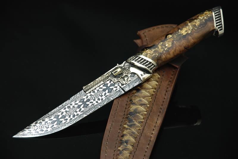 """Коллекционный нож """"Author's-2"""", мозаичный дамасск"""