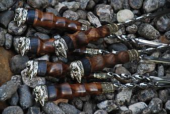 """Шашлычный набор ручной работы """"Vikings"""" (6шт, 3мм) в колчане из кожи, фото 2"""