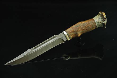 """Охотничий нож ручного изготовления """"Шутник"""", дамасск (наличие уточняйте), фото 2"""