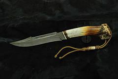 """Охотничий нож ручного изготовления """"Шутник"""", дамасск (наличие уточняйте), фото 3"""