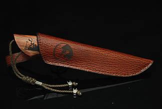 """Нож ручной работы из дамасской стали """"Дичь"""", со вставкой из зуба мамонта, фото 2"""