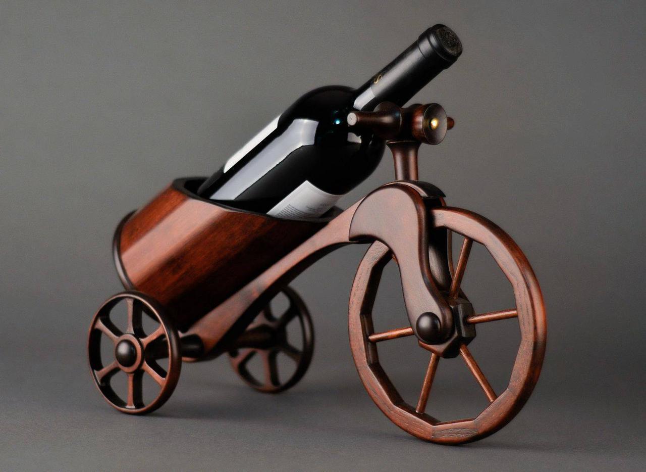 Мини-бар в виде велосипеда, материал - ясень