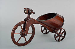 Мини-бар в виде велосипеда, материал - ясень, фото 2