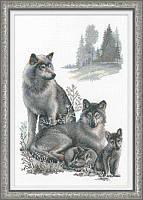 Набор для вышивки крестом Риолис 100/021 Волки