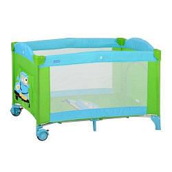 Манеж-кроватка Bambi M 2237 Зелено-голубой (intM 2237)