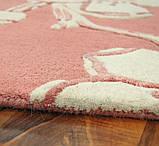 Бледно розовый ковер для спальни в цветочном стиле, фото 2