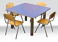 Стол детский, квадратный, 4-местный ростовой группы № 2