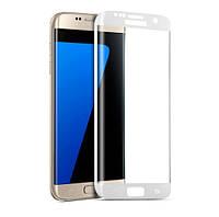 Защитное стекло Premium Tempered Glass Full Coverage 0.26mm (2.5D) для Samsung Galaxy S7 Edge G935F White, фото 1