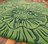Красивейшие ковры из шерсти с рисунком из вискозы зеленого цвета, фото 2