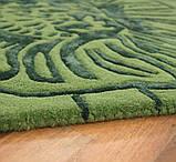 Красивейшие ковры из шерсти с рисунком из вискозы зеленого цвета, фото 3