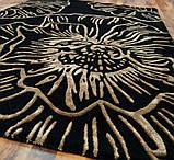 Купити чорний килим з золотим малюнком, фото 2