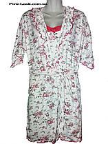 Женский комплект халат и ночная рубашка