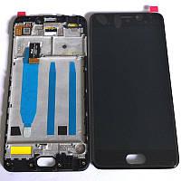 Дисплей для Meizu M3 Note (L681H) с тачскрином и рамкой черный Оригинал