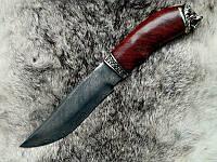 """Нож охотничий ручной работы """"Огненный лев"""", дамасск"""