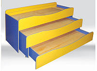 Кровать детская 3-ярусная без матрасов