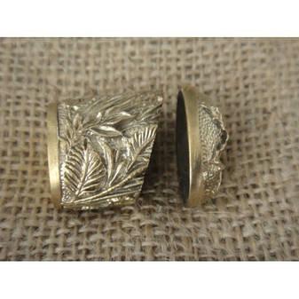 Бронзовый/мельхиоровый комплект для ножа № 35, фото 2