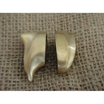 Бронзовый/мельхиоровый комплект для ножа № 37, фото 2