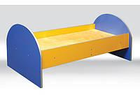 Детская кровать с закруглениями спинками без матраса