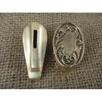 Бронзовый/мельхиоровый комплект для ножа № 45, фото 2