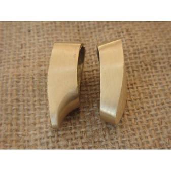 Бронзовый/мельхиоровый комплект для ножа № 48, фото 2